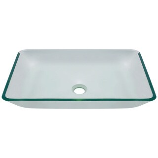 Polaris Sinks P046 Crystal Glass Vessel Bathroom Sink