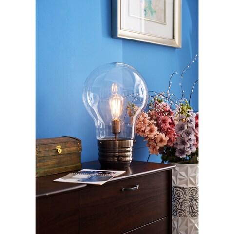 Carbon Loft Curie Antique Brass 18-inch Table Lamp