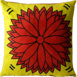 Maxwell Dickson Flower Power Velour Throw Pillow