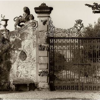 Alan Blaustein 'Tuscan Gate' Gallery Wrapped Canvas Art