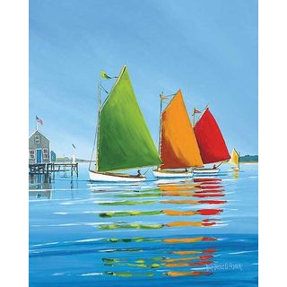 Sally Caldwell Fisher 'Cape Cod Sail' Gallery Wrapped Canvas Art