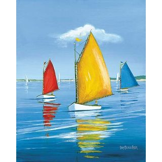 Sally Caldwell Fisher 'Newport Regatta' Gallery Wrapped Canvas Art