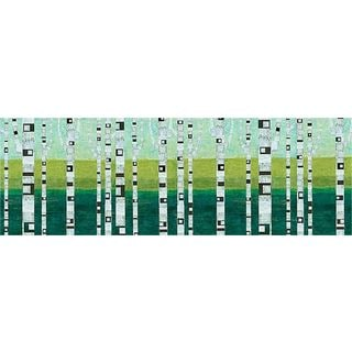 Michelle Calkins 'Birches at the Beach' Gallery Wrapped Canvas Art