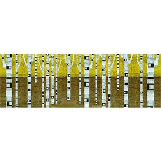 Michelle Calkins 'Birches in Fall' Gallery Wrapped Canvas Art
