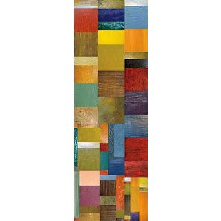 Michelle Calkins 'Color Panels with Water and Waves' Gallery Wrapped Canvas Art