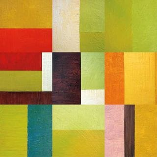 Janet Bothne 'Color Study Abstract 2' Gallery-Wrapped Canvas Wall Art