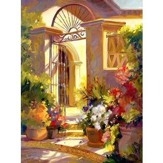 Betty Carr 'Fragrant Entrance' Gallery Wrapped Canvas Art