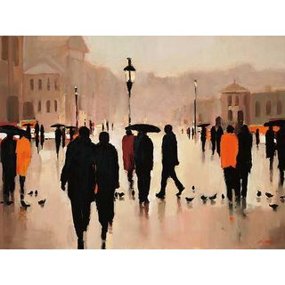 Lorraine Christie 'Where We Once Walked' Gallery Wrapped Canvas Art
