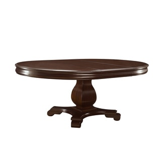 Coaster Company Harris Cherry Pedestal Dining Table with Leaf