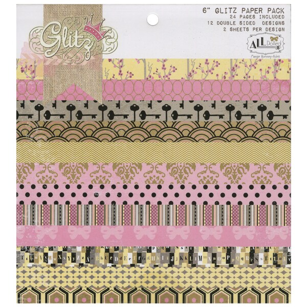 """All Dolled Up Paper Pad 6""""X6""""24/Sheets-12 Double-Sided Designs/2 Each"""