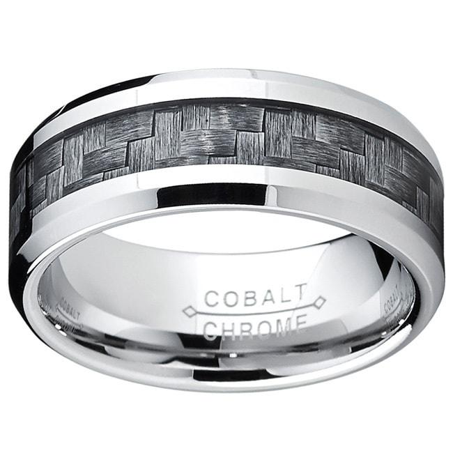 Oliveti Cobalt Men's Grey Carbon Fiber Inlay Comfort Fit ...
