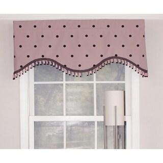 "RLF Home Polka Dot Cornice 50"" Window Valance - Pink"