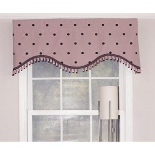 Polka Dot Pink Cornice Window Valance