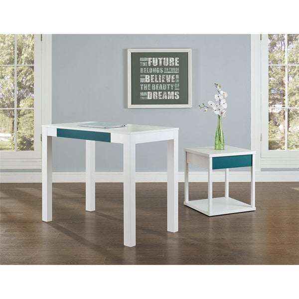 Ameriwood Home Parsons Desk With Drawer   Free Shipping Today    Overstock.com   16276635