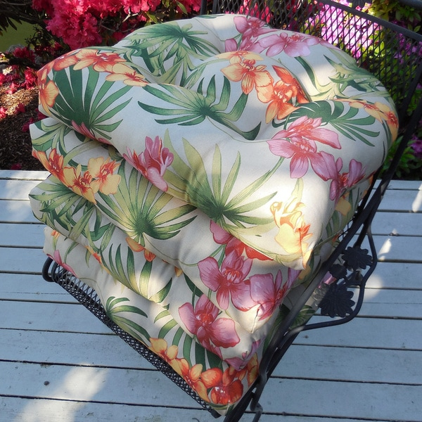 Tommy Bahama African Orchid Indoor / Outdoor Oversized Chair Pads (Set Of 4)