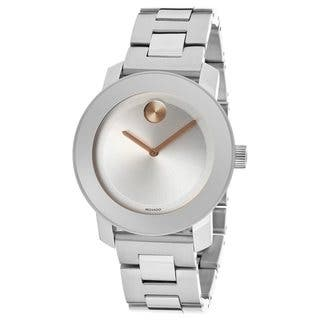 Movado Bold Women's 3600084 Silvertone Dial Stainless Steel Watch|https://ak1.ostkcdn.com/images/products/9086678/Movado-Bold-Womens-3600169-Silvertone-Dial-Stainless-Steel-Watch-P16276787.jpg?impolicy=medium