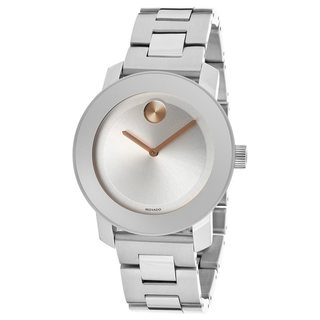 Movado Bold Women's 3600084 Silvertone Dial Stainless Steel Watch
