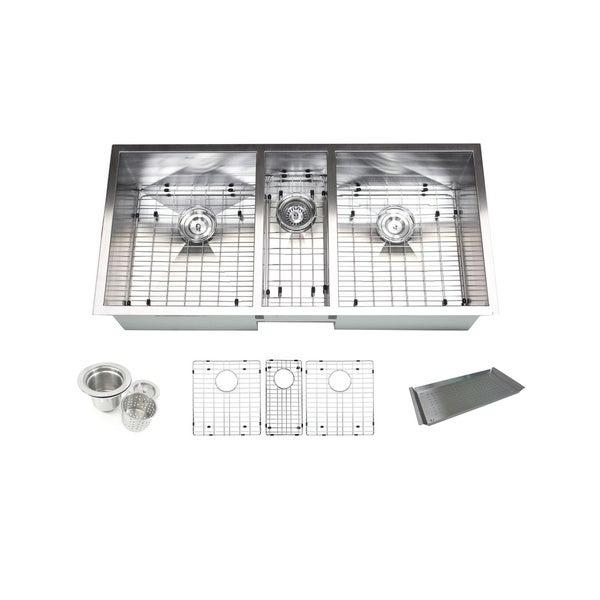 Bowl 42-inch Stainless Steel Undermount Zero Radius Kitchen Sink ...