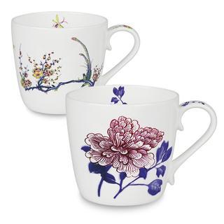 Konitz Peony and Bird Butler Collect Mugs (Set of 2)
