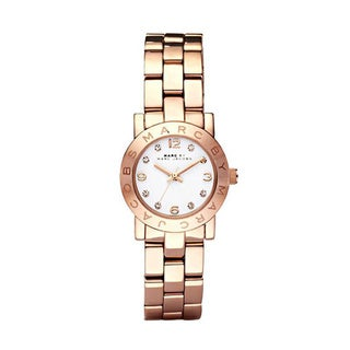 Marc Jacobs Women's 'Mini Amy' Rose Goldtone Stainless Steel Watch
