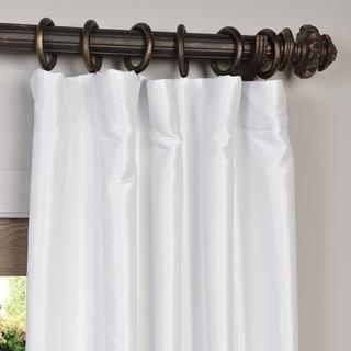 Exclusive Fabrics Faux Silk Taffeta Solid Blackout Curtain Panel