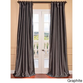 Faux Silk Taffeta Solid Blackout Single Curtain Panel (2 options available)