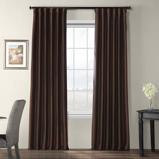 faux silk taffeta solid blackout curtain panel