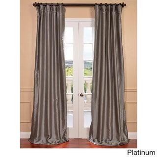 Faux Silk Taffeta Solid Blackout Single Curtain Panel (50 X 108 - Platinum)