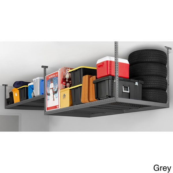 Newage Products Adjule Width Ceiling Storage Rack Free Shipping Today 16276857