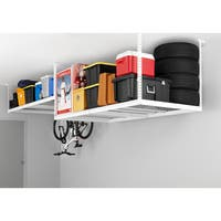 NewAge Products Stainless Steel Adjustable Width Ceiling Storage Rack