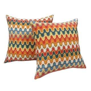 Desert Indoor/ Outdoor Throw Pillows (Set of 2)