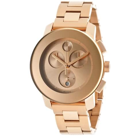 Movado Bold Women's 3600077 Rosegold Stainless Steel Watch