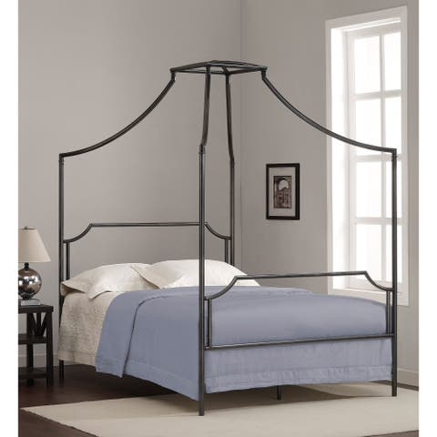 The Curated Nomad Bailey Charcoal Full-size Canopy Bed Frame