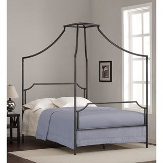 bailey charcoal fullsize canopy bed frame
