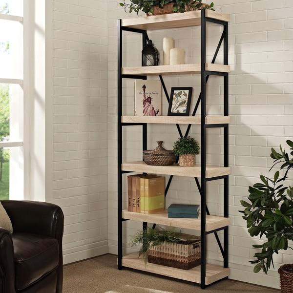 Shop Discontinued Denver 72 Inch 6 Shelf Bookcase