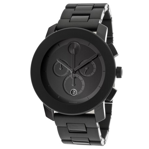 Movado Bold Men's Chronograph Black Bracelet Watch