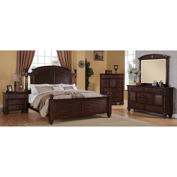 Picket house duval 5 piece distressed mahogany bedroom set - Distressed bedroom furniture sets ...