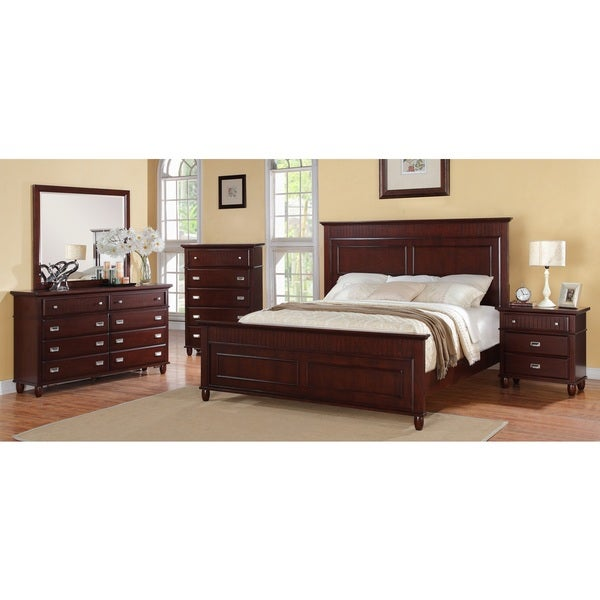 Shop Picket House Sutton 5 Piece Rich Cherry Bedroom Set Free
