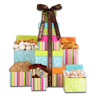 Link to Alder Creek Gift Baskets Thank You Treats Tower Similar Items in Gourmet Food Baskets