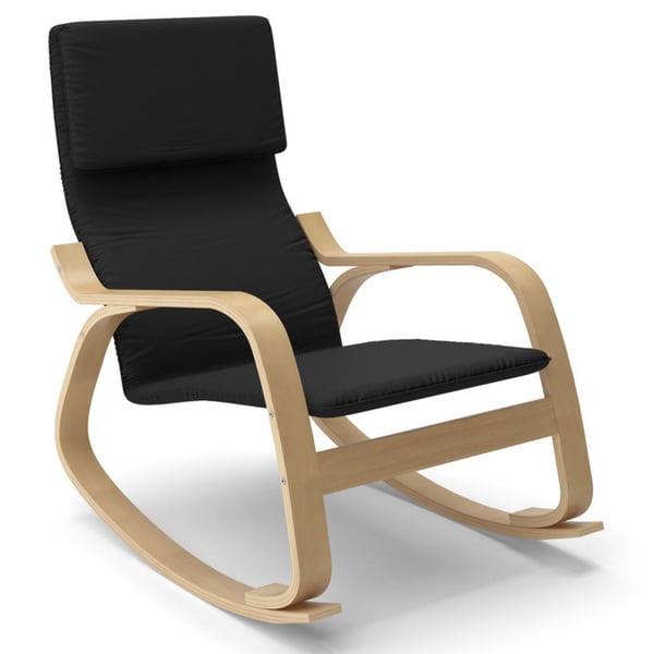 Corliving Aquios Bentwood Contemporary Rocking Chair