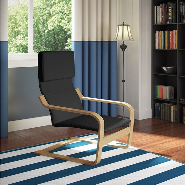 CorLiving Aquios Bentwood High Back Armchair