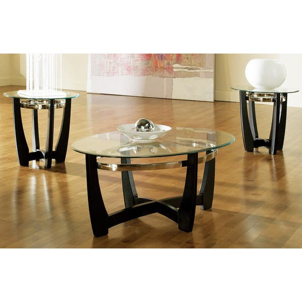 Mandalay Gl Top Occasional Tables By Greyson Living Pack Of 3 Piece Set