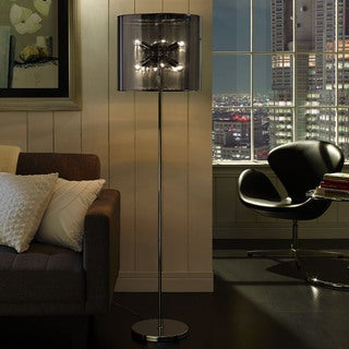 Stage Floor Lamp in Silver