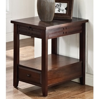 Greyson Living Crosby Mocha Cherry Chairside Table