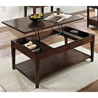 Crosby Mocha Cherry Lift-top Coffee Table with Casters by Greyson Living