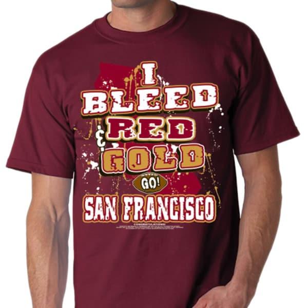 Shop San Francisco Football I Bleed Red And Gold T Shirt Free