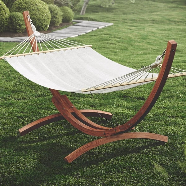 Elegant CorLiving Wood Canyon Larch Wood Patio Hammock