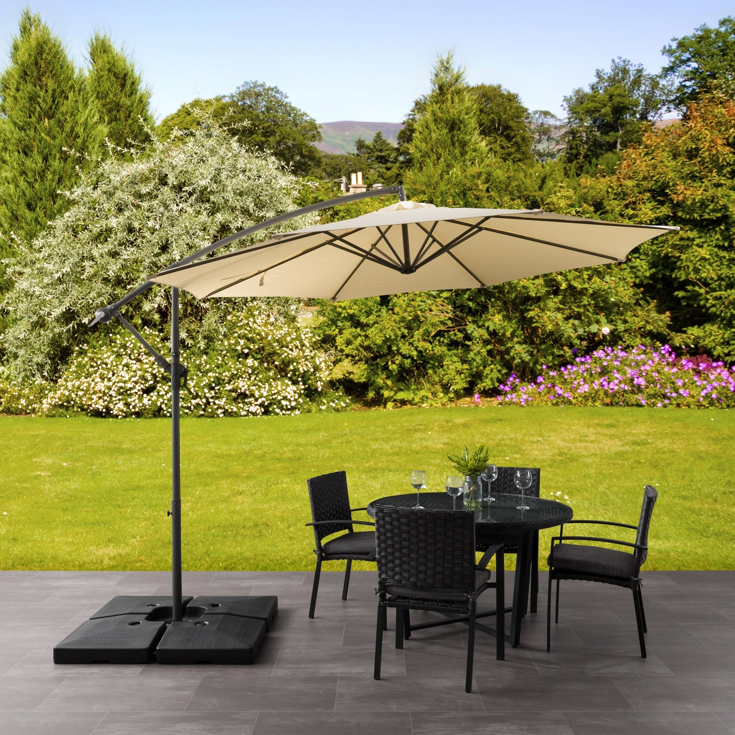 North Bend Offset Patio Umbrella By Havenside Home Overstock 9087261