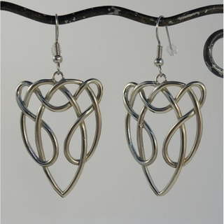 Handmade Silver-tone Celtic Horse Earrings (Indonesia)