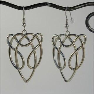 Handmade Silver-tone Celtic Horse Earrings (Indonesia)